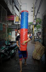 Buckets (ernie52002) Tags: street blue red italy hk usa canada color london art japan america work hongkong la photo asia photographer russia miami philippines australia korea streetphoto buckets pail flickrandroidapp:filter=none