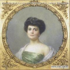 Romualdo Prati La robe verte-Baronessa H de Lusinge 1909 pastello 63x63cm Collezione privata Romualdo Pr