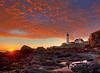 Portland Head Lighthouse (pgpaulagonzalez) Tags: light lighthouse clouds sunrise portland coast landscapes maine 500px tonyshi ifttt