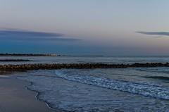 Sunset at Vias-Plage, dans le dos bien sur (jeanmichelchuiche) Tags: sunset france hiver soir coucherdesoleil viasplage vias phares graudagde herault