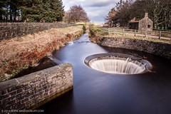 Redmires Plughole (jonbradbury) Tags: uk longexposure water flow peakdistrict sheffield canonef1740mmf4lusm southyorkshire plughole vpdd peaknationalpark redmiresreservoir jonbradbury jonbradburycom canoneos6d bwnd30