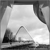 PhM-Du pont et... (Philippe Em) Tags: gare noiretblanc pont liège guillemins pontcalatrava sortiephotosliège16022014