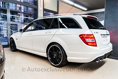 Mercedes C 63 AMG Estate - Blanco Diamante - Piel Roja Designo