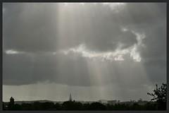 Crepuscular Rays (Zelda Wynn) Tags: sunset nature rain weather auckland artgalleryofnsw symphony sunbeams crepuscularrays spotlights waitakereranges westauckland godsrays inspiredbyalfredstiegltz zeldawynnphotography