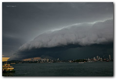 I N S A N E (Mark B. Imagery ) Tags: cloud geotagged photography flickr sydney australia nsw thunderstorm sydneyharbour ferrie westher shelfcloud markbimagery