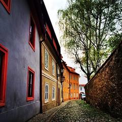 Z Noveho sveta. || From the New world.   #praha #prague #igerscz #igraczech #street (veveru) Tags: city square europe prague lofi prag praha squareformat czechrepublic iphoneography instagramapp uploaded:by=instagram