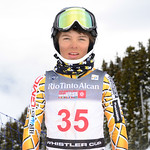 Finn ILES of WMSC/Canada takes 9th Place in the U16 Boys Slalom Race held on Whistler Mountain on April 5th, 2014. Photo by Scott Brammer - coastphoto.com