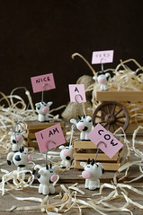 Mucche Segnaposto Fatte a Mano in Pasta di Mais-Handmade Cold Porcelain Cow Place Card Holders (Tania-Dulcis in Furno) Tags: pink white black animals cards cow cows handmade straw rosa card stalla mucca stable bianco nero animali placeholder paglia segnaposto mucche biglietti coldporcelain fattoamano pastadimais marrome placeholdercard porcellafredda