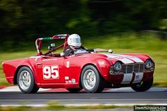 1963 Triumph TR4 (autoidiodyssey) Tags: usa classic cars racecar vintage wv triumph 1963 tr4 summitpoint vrg jefferson500 vintageracergroup 2015jefferson500 tonydrews