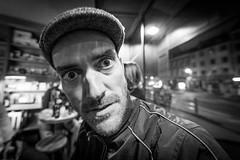 "#97 ""Ricky, what the hell are you doing on this planet?"" (Hendrik Lohmann) Tags: street streetphotography strassenfotografie strase streetportrait strasenportait portrait people menschen düsseldorf nikon df nightshot night nightlife whatthehell hendriklohmann"