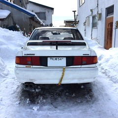 FullSizeRender 3 (uki_cafe) Tags: japan hokkaido car mitsubishi lancerevolution lancer snow winter