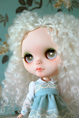 Custom #126 (Ris~Ras) Tags: white mouth nose carving lips mohair blythe custom fbl risras reroot