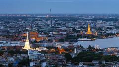 Bangkok view - Wat Arun and Wat Kalayanamit
