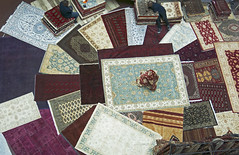 Exotic rug display (africanpix) Tags: shop digital outdoors photography persian display sale magic nopeople exhibit woven sell rugs carpets kelim colorimage horizontalformat colourimage