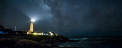 Coastal Night View just below San Francisco (Michael Walker) Tags: sea panorama rot water beautiful night stars landscape lights coast awsome