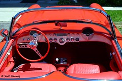 1957 Fuelie Corvette (scott597) Tags: red convertible chevy 1957 corvette injection fuel fuelie