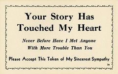 Your Story Has Touched My Heart (Alan Mays) Tags: old vintage paper typography funny humorous antique humor ephemera postcards type fonts printed borders typefaces jokecards