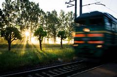 Early train (markem808) Tags: sun train sunrise pentax platform rays k5 latvijas dzelzscels