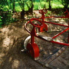 playground in the woods (doistrakh) Tags: travel light shadow 120 6x6 film playground mediumformat square woods europe dof kodak sweden bokeh hasselblad vintagecamera nordic solna colorslide carlzeiss hasselblad500cm e100g colorreversalfilm nordiccountry 北歐 瑞典 ektachromee100g planar80mmf28ct vintageanalogue