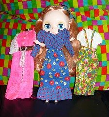 Daphne Maple: I found these vintage goodies the the Barbie box! (7/31--1970's Chic)