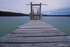 private jetty (images-by-TLP) Tags: longexposure tasmania campervan rickety nd400 privatejetty facebookcomimagestlp imagestlp tasmanianpeninsula