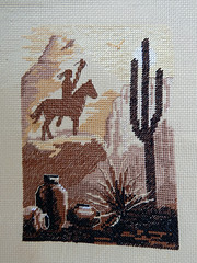 Native american cross-stitch. (grizzly comrie) Tags: crossstitch sewing crafts