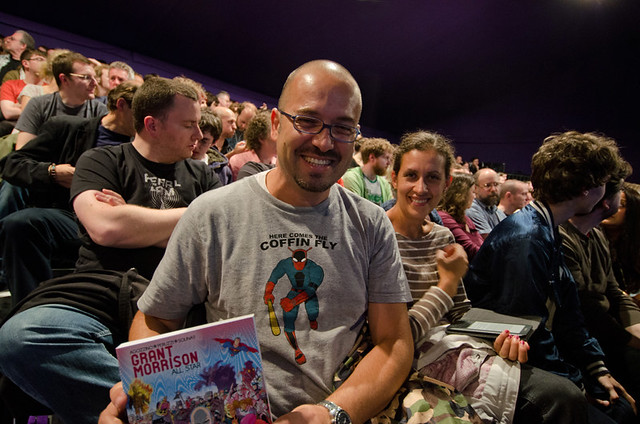 A happy Grant Morrison fan