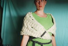 Lemmy (-leethal-) Tags: knit wrap cables shrug eyelets bulky lemmy cowl superbulky icords leethal