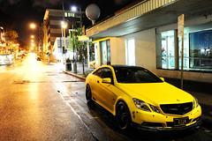 CRAZY   GILA    (desmosedicilow93) Tags: street yellow photography mercedes benz crazy skirt lips fender mercedesbenz desmond e200 v8 matte v10 carbonfiber amg gila v12 blackrims e63 e350 e250  blackroof blackgrill