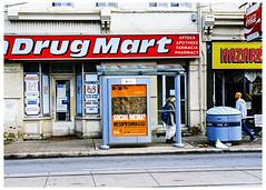 Social Media Drug Mart (swanksalot) Tags: signs toronto 35mm media great social stranger drugs drug dundas astral mesopotamia mart nazaré apteka farmacia socialmedia 45years drugmart genericdrugs apotheka