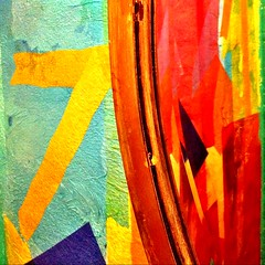 Seven Art (Andre Carregal) Tags: blue red abstract verde green yellow azul wall painting cores colours sete vermelho amarelo smartphone seven colourful processed abstrato parede pintura iphone colorida pintado