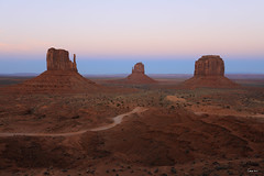 West Mitten, East Mitten and Merrick Buttes at Sunset (Geourjon Benoit) Tags: park arizona west monument landscape utah sand colorado butte plateau tribal east valley navajo mitten merrick