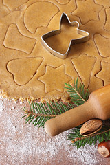 Angel cookies. (ZakariaSnow) Tags: christmas xmas winter food brown white holiday tree cookies up closeup angel ball festive season dessert star ginger baking wooden pin cookie close heart symbol drink sweet cinnamon background traditional spice rustic seasonal decoration gingerbread sugar gourmet delicious biscuit homemade ornament bakery pastry stick flour shape utensil cutter rolling preparation