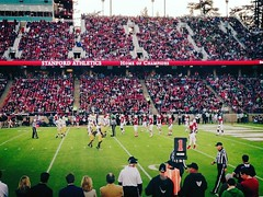 My view (seat) of the game. (Σταύρος) Tags: california irish apple northerncalifornia cali one 1 football nikon phone cardinal stadium telephone cellphone cell notredame estadio stanford mobilephone stanfordstadium paloalto siliconvalley fans norcal gps footballfield stadion ncaa 70300mm crowds estádio stade footballgame myview footballplayers myseat kalifornien californie southgate iphone 1892 collegefootball sidelines redzone grassfield footballstadium stanforduniversity endzone fightingirish スタジアム 加州 カリフォルニア stanfordfootball californië fosterfield stanfordcardinal homeofchampions d700 appleiphone iphone5 pac12 στάδιο takenwithaniphone калифорния كاليفورنيا nikond700 캘리포니아 καλιφόρνια iphonecapture backcamera fearthetree iphone5capture
