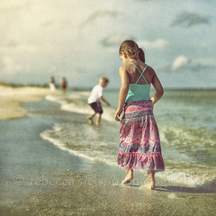 (Rebecca812) Tags: ocean boy summer portrait sky sun texture beach gulfofmexico nature water girl beauty clouds swim children square surf day waves florida walk shore serene connect canon5dmarkii skeletalmess rebecca812 horizonabovewater