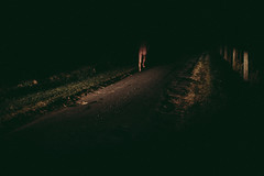 (bryce thomas photography) Tags: road street boy shadow man men youth night rural naked nude photography shadows fineart country australian young inspired run headlights bryce conceptual evantetreault brycethomasphotography