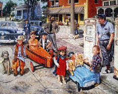 """Gassing Up"" (Puzzler4879) Tags: art kids nostalgia puzzles pointshoot toycars canonpowershot jigsaws canondigital canonaseries gassingup canonphotography jigsawpuzzles canonpointshoot a590is canona590is artisticpuzzles susanbrabeau artistsusanbrabeau"