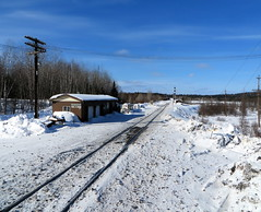 Site of former CP Franz Station (Sean_Marshall) Tags: ontario railway junction franz canadianpacific cp cpr algoma algomacentralrailway {vision}:{outdoor}=099 {vision}:{mountain}=0807 {vision}:{ocean}=0521 {vision}:{sky}=0749 {vision}:{snow}=0696