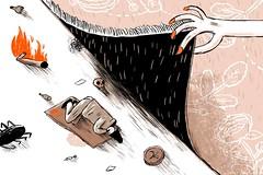 On One Leg (Noamweiner) Tags: street red broken bug carpet fire skull hand homeless cardboard crime editorial russian vomit shekel bottels tolstoi yediot ahronot