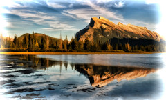 Mount Rundle: Digital Art Processing (Jeff Clow) Tags: albertacanada banffnationalpark jeffrclow