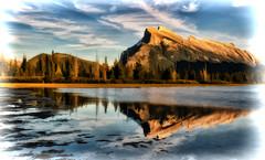Mount Rundle: Digital Art Processing (Jeff Clow) Tags: albertacanada banffnationalpark ©jeffrclow