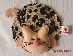 MARCA PAGINAS GATINHA ONCINHA (Caju Rosa) Tags: handmade mimo felt gata livro feltro maternidade onça gatinha oncinha página marcador lembrancinha marcadordepágina cajurosa