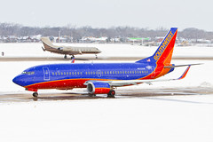 Southwest 737-300 in a Snowstorm DAL N632SW (Bill Wilt) Tags: white snow southwest art love ice nature field animals plane photography dallas pretty texas artistic accident aviation snowstorm dal boeing airlines incident blizzard spotting airliner 737 gulfstream winglets 2011 737300 kdal n632sw n632s