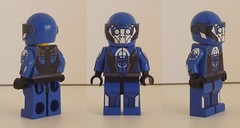 Blue Suns Trooper (alternate views) (GhosthandsGH) Tags: blue lego scifi mi
