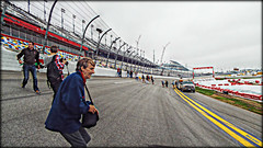Down, down, down we go.... (Chris C. Crowley- grieving and recovering) Tags: people racetrack fence bank racing nascar speedway daytonainternationalspeedway grandstands daytonabeachflorida chriscrowley downdowndownwego