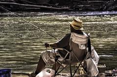 Catch of the Day (zuni48) Tags: park nature river fishing fisherman chair maryland cigar recreation fishingpole fishingrod patapsco angler patapscovalley patapscoriver mckeldon marriottsville zunikoff