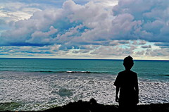 With the wind I'll share this lonely view (Adriansyah Putera) Tags: beach silhouette sumatra pantai sumatera ketahun