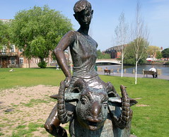 Boy on a Ram, Derby (Tony Worrall) Tags: park county city uk boy england sculpture art statue bronze artist tour place derbyshire country visit location figure area publicart derby midlands ©2014tonyworrall boyonram