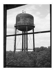 Untitled (June, 2015) (Michael Ast) Tags: abandoned water climb industrial decay framed watertower teens infrastructure heights urbex tresspassing breakingandentering michaelast