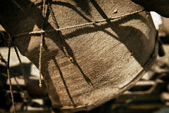 Come Sail Away (hbmike2000) Tags: old shadow sunlight macro dusty broken leather closeup contrast nikon antique rope dirty sail string torn d200 hoya pirateship weeklytheme closeuplens theflickrlounge hbmike2000